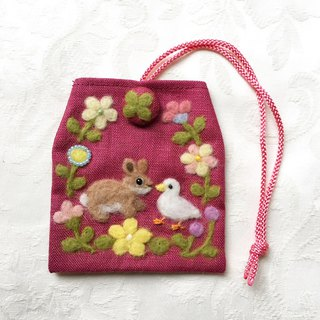 amulet bag of rabbit and duck
