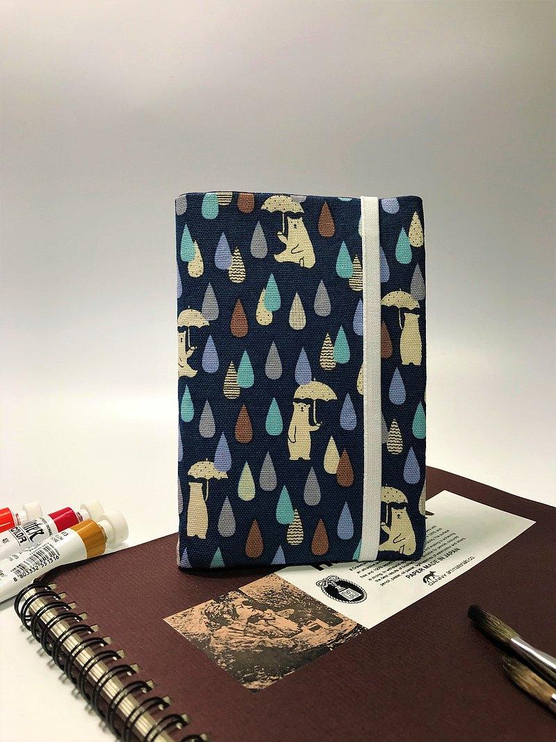 Fantasy【下雨天的熊棉麻布】護照套/夾