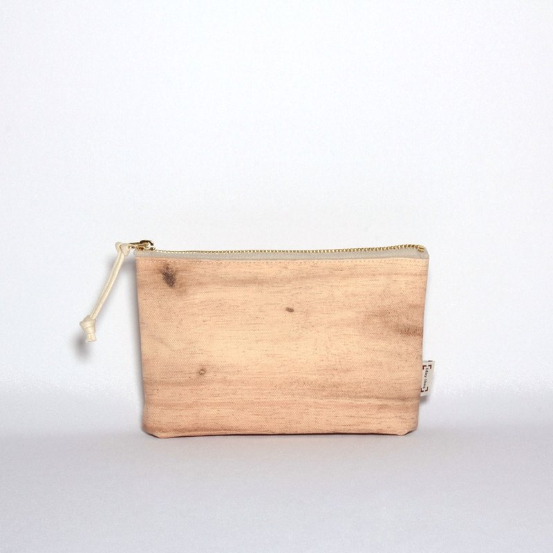 [Flash special] natural grain thick canvas zipper bag