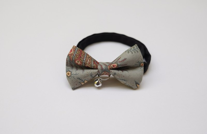 [Miya ko.] Handmade cloth grocery cats and dogs tie / tweeted / bow / folk style / retro / pet collars