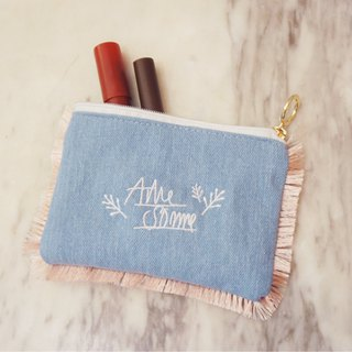 Awesome! Cute Flow Sultanin Cosmetic Bag - Light Blue