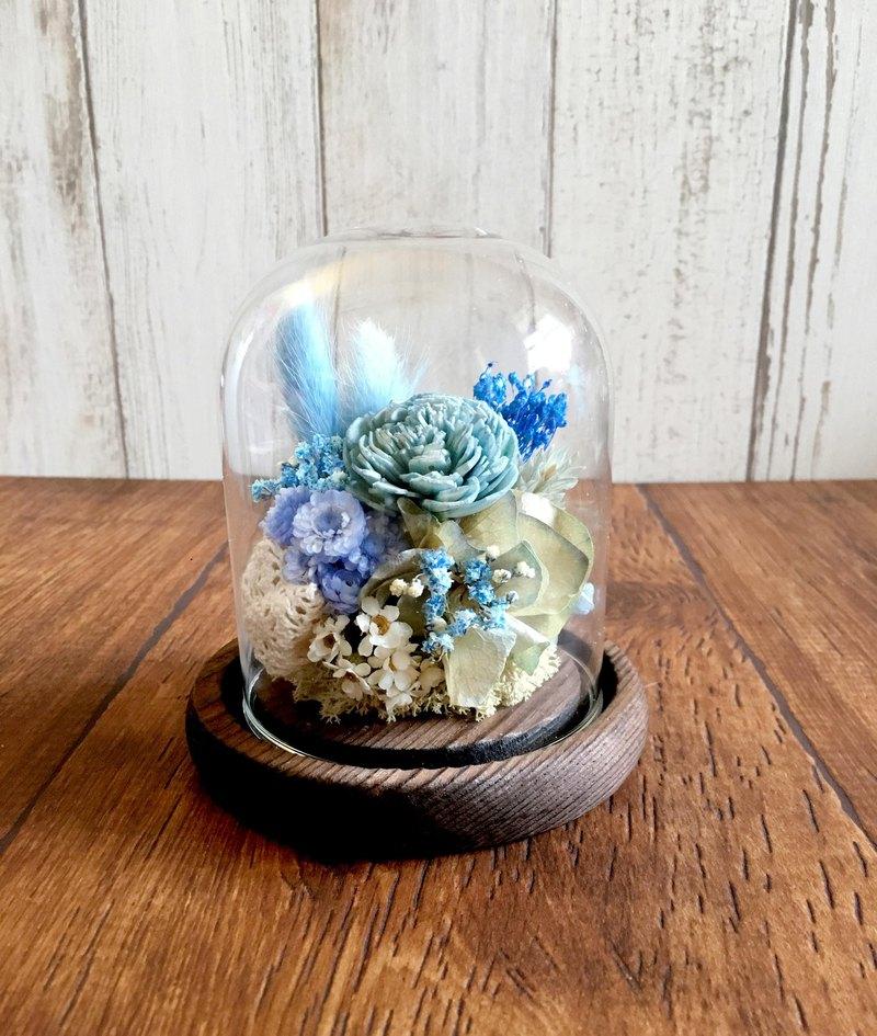 |浪花| 乾燥花。擴香花。玻璃盅。禮物