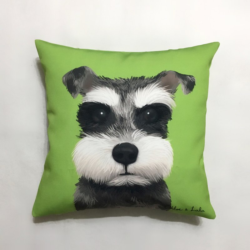 Wang Hao Big Pillow - Schnauzer