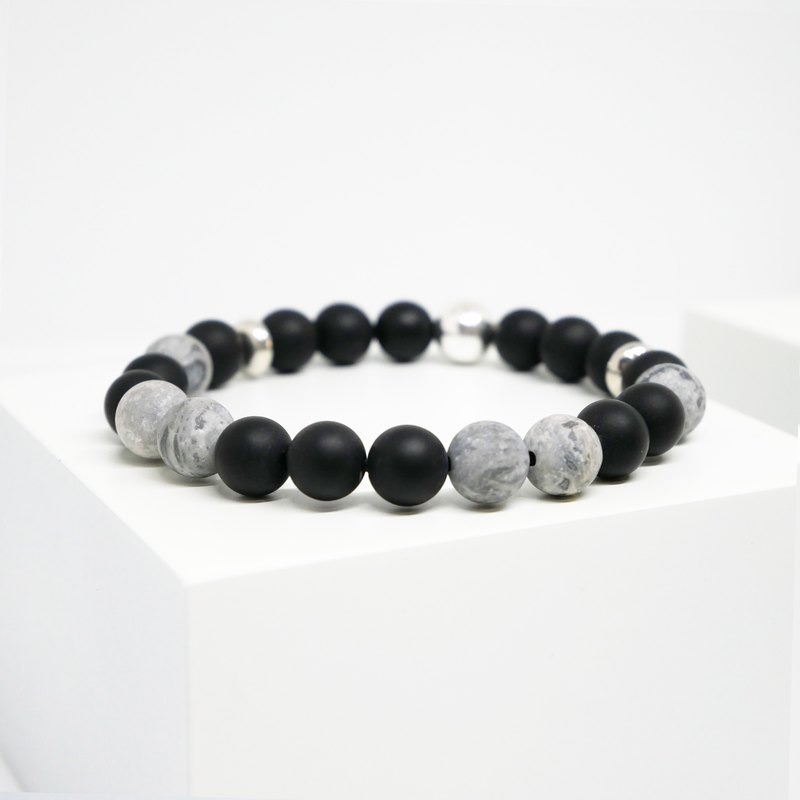 VSNS | Zebra - Picasso Stone Natural Stone Personality Beaded Couple Bracelet Men and Women Bracelet