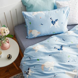 Movable single bed single bed / bed bag hand-painted cat 40 cotton bedding pillowcase quilt cover