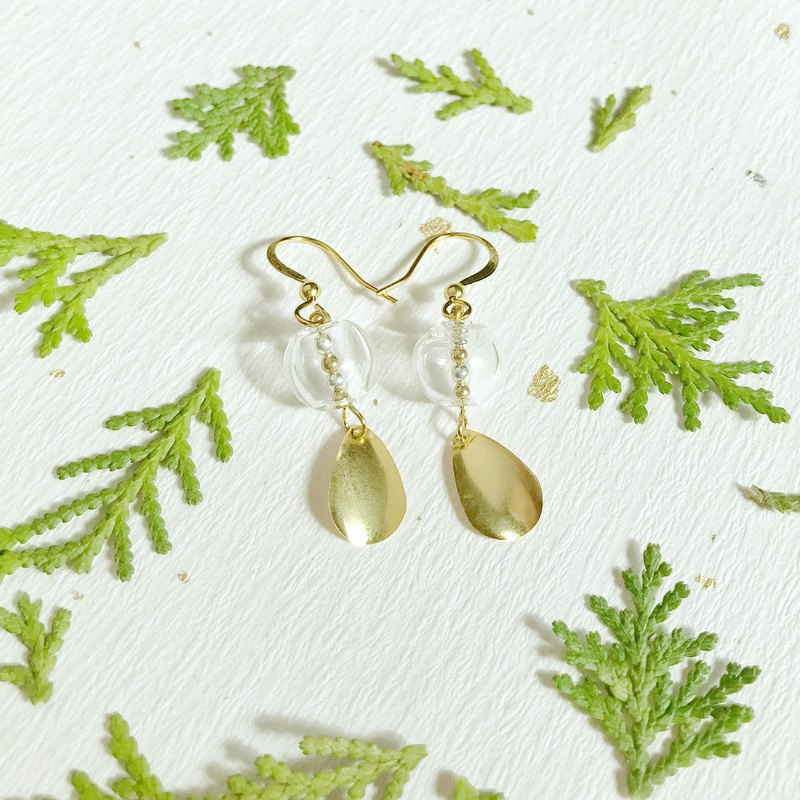 | Limited | Campanula 18K gold glass earrings can be changed ear clip
