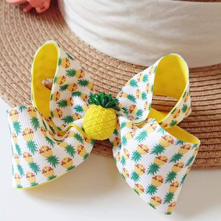 Bonbon Baby Yellow Pineapple Bow Hair Clip