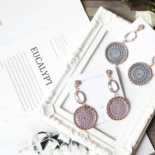Gemstone Geometric Dreamcatcher Earrings