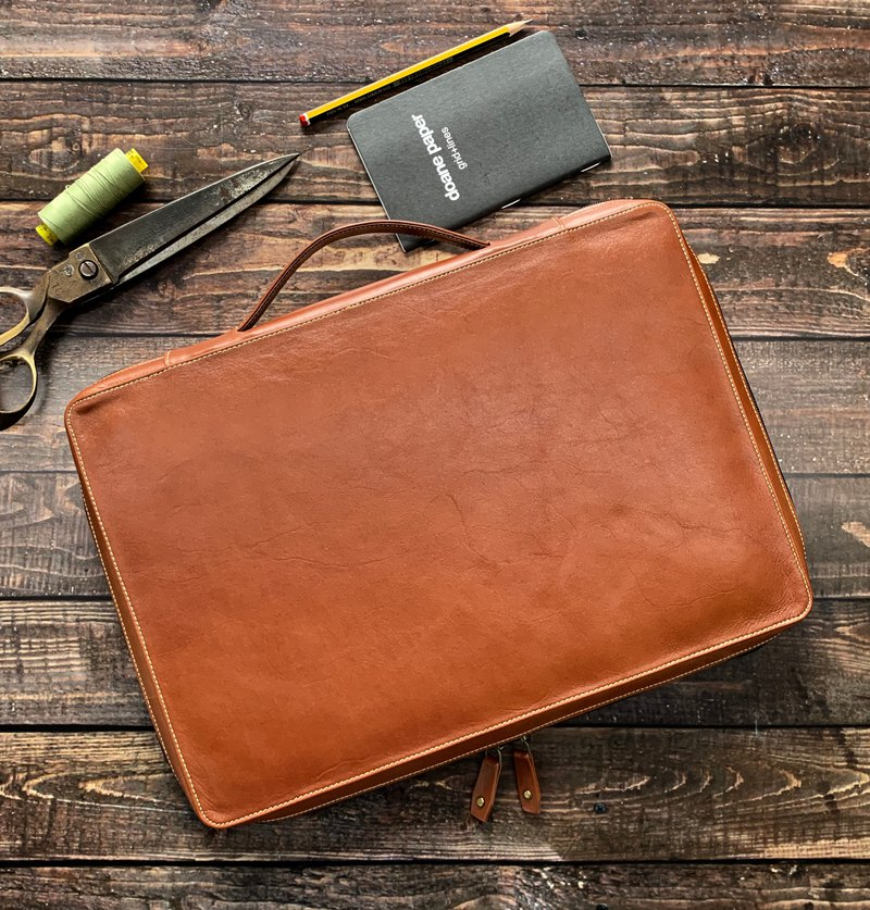 Leather Organizer, Laptop Portfolio, A4 Document Holder, Laptop Case