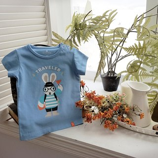 Twin Pack Rabbit Traveler T-shirts-SkyBlue Set