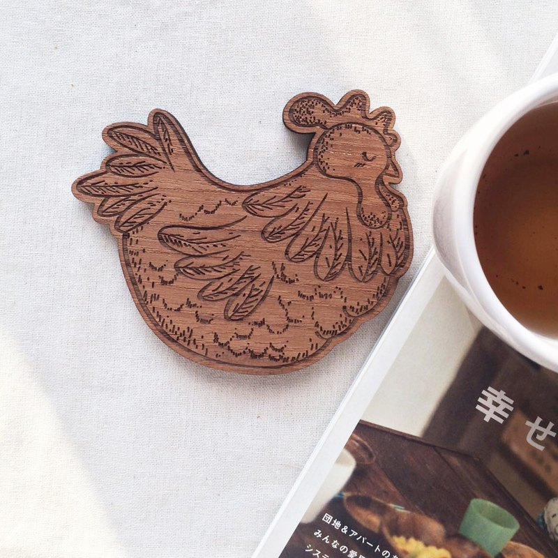 Wooden Coaster Chicken