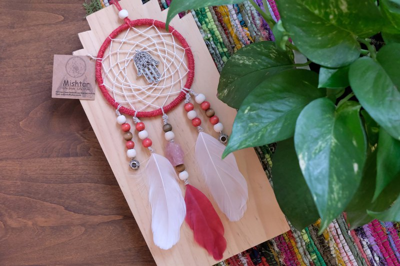 Handmade Dreamcatcher - Rose Quartz