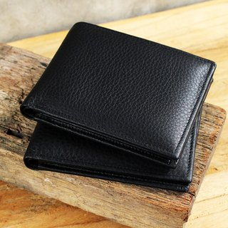 Wallet - Bifold - Black (Genuine Cow Leather) / Small Wallet  / 钱包 / 皮包