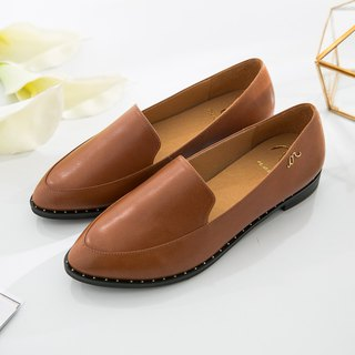 Erato-Caramel Brown-Handmade Leather Wenlan Loafers