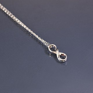 Infinitely extended 925 silver chain