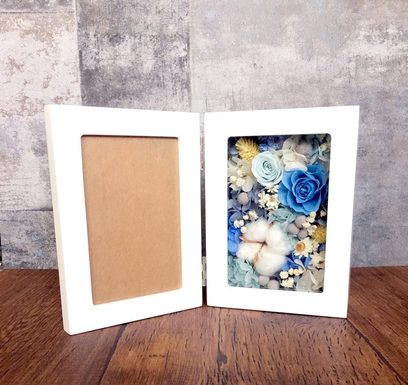 | The sound of waves | Not withering. Dry flowers. Flower photo frame. wedding. commemorate. gift