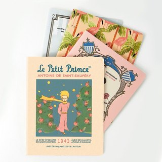 7321Design- Little Prince Striped Notebook L-Rose Garden, 7321-87325