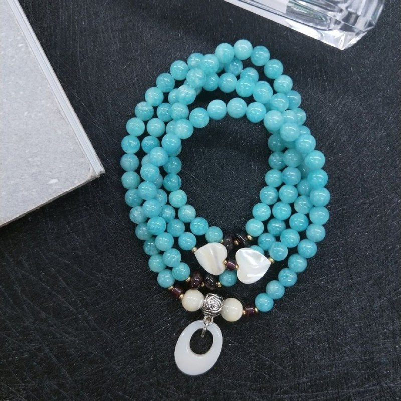 [108 rosary series. The only product] 6mm Tianhe stone * shell beads rosary