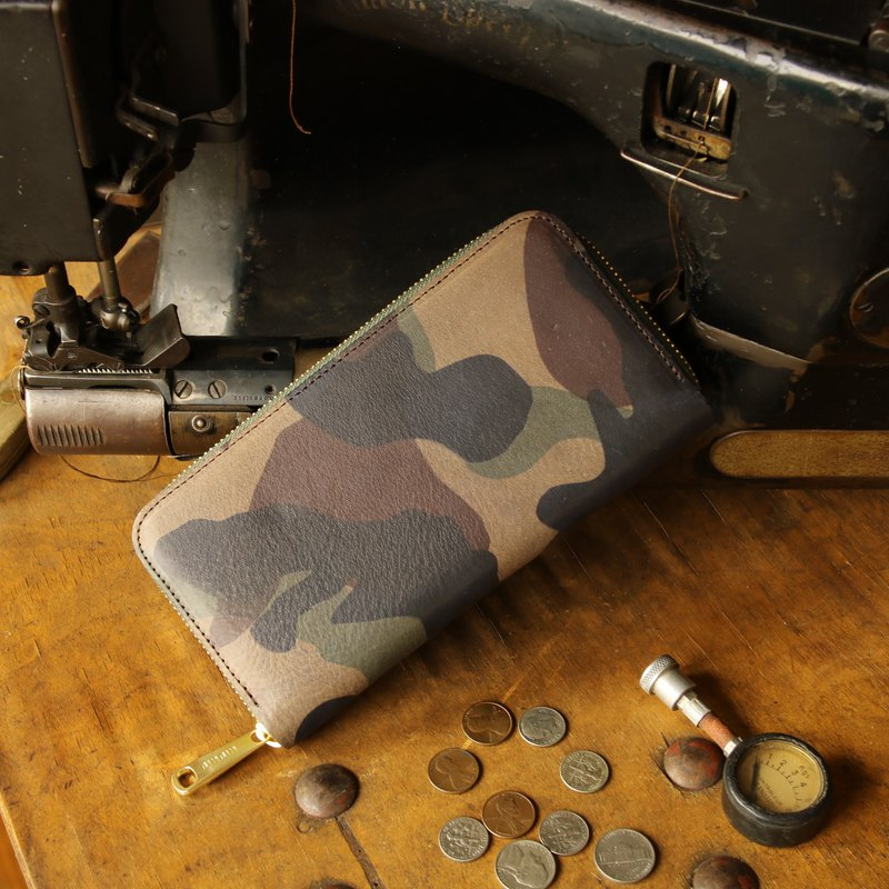 日本製造 牛皮 錢包 绿色  made in JAPAN handmade leather wallet