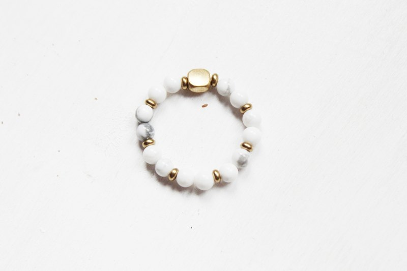 【Howlite】classic series-retractable rope rings (Customizable )