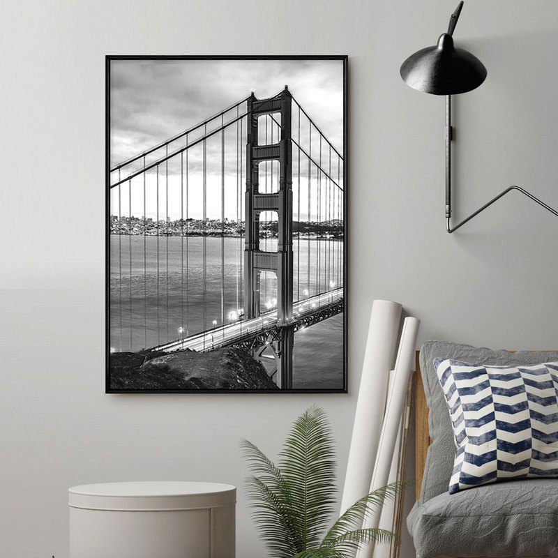 San Francisco – Golden Gate Bridge - Construc, Wall Art, Home Decor, Wall Prints
