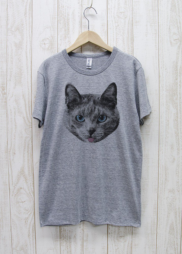 ronronCAT Tee Beh Heather Gray / R020-TT-GR
