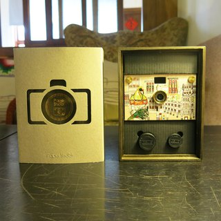 Red Mao big rice paper can shoot camera - hardcover wooden box version