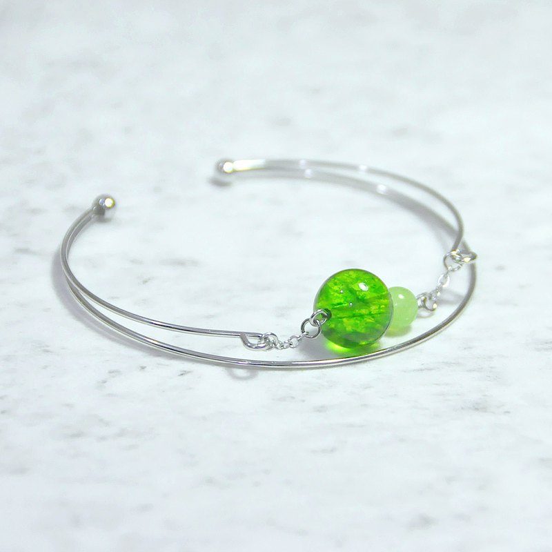 Green and Green Bracelet Green Crystal Grape Chalcedony Bracelet Handcuffs