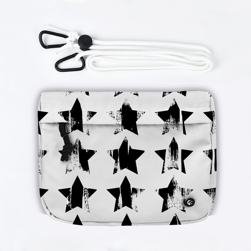 Grinstant mix and match detachable group shoulder bag - black and white series (stars)
