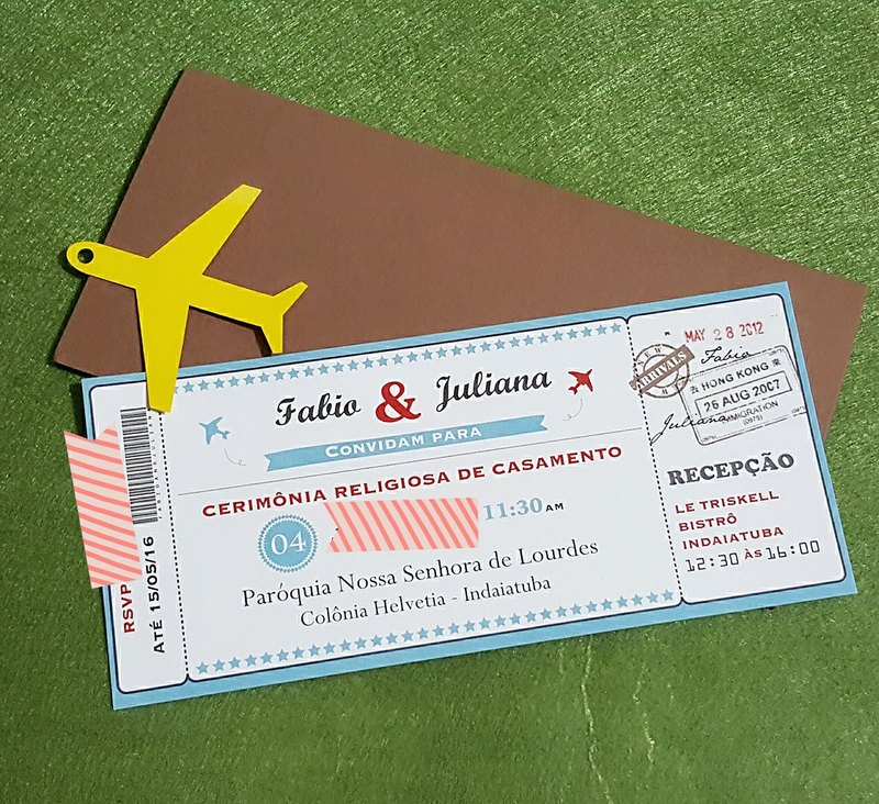 MYLoveHK - Bespoke destination travel style wedding invitation cards