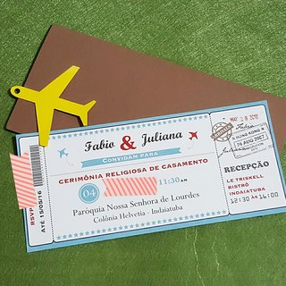 MYLoveHK Bespoke destination travel style wedding invitation cards