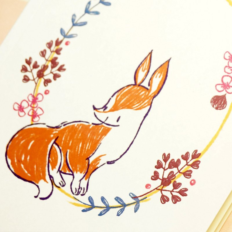 ◕☁ daily cloud Pina F0001-202 corner animal fox A5 notebook