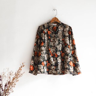 Rivers and mountains - Niigata discount dry winter flowers antique silk shirt shirt shirt oversize vintage
