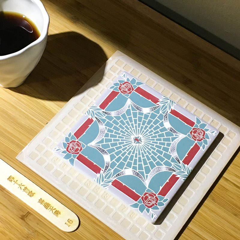 Taiwan Majolica Absorbent Tiles Coaster【A Blessing Sent From The Heaven-SILVIER】
