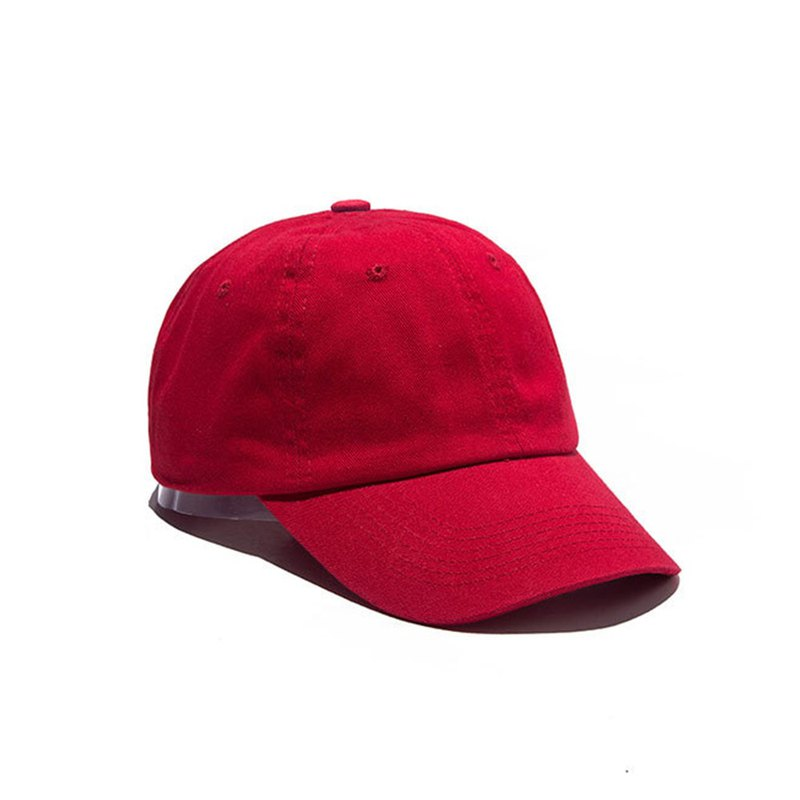 Pure color washed leisure cap red total 9 colors customized M8366-8