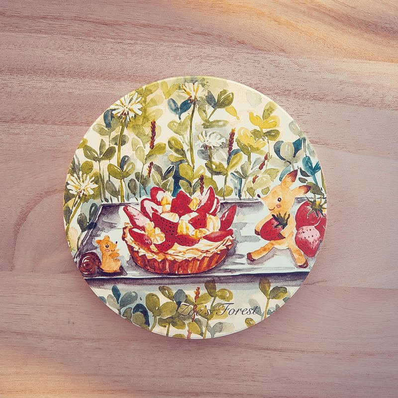 Zoe's forest Great Tea ceramic coaster