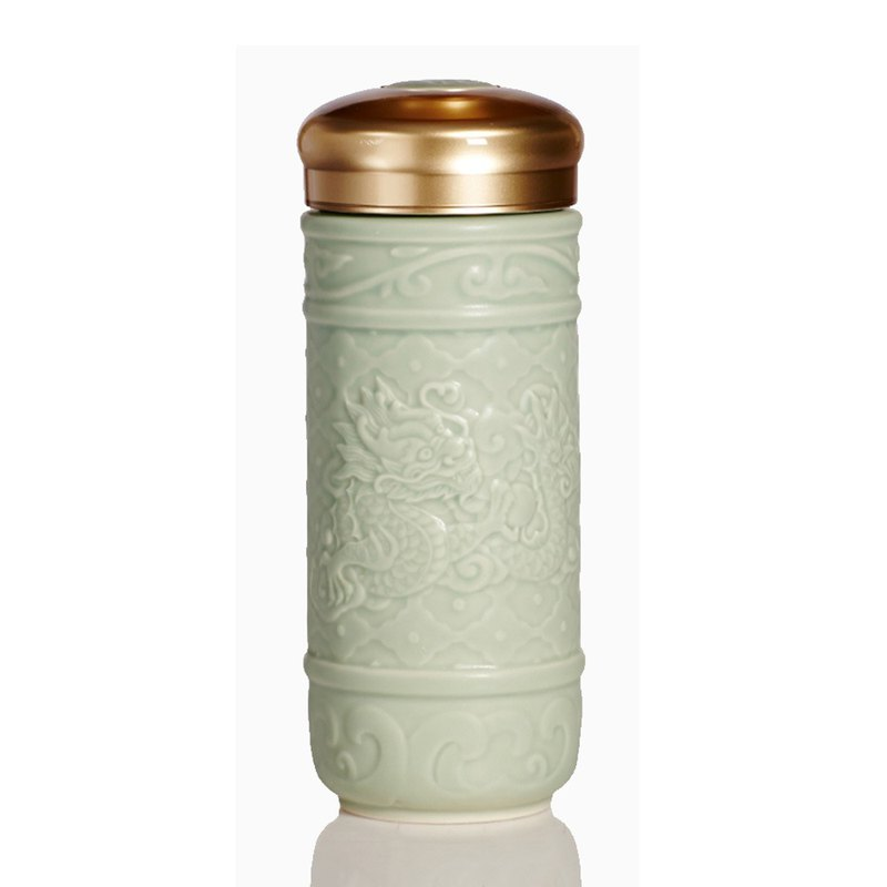 Feiyue Xianglong portable cup / large / double layer / mint green