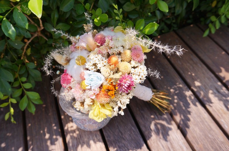 Elk flower Amor Floral - spring fairy elves do not withered rose bouquet of flowers / bridesmaid mother flower girl flowers dry crown wedding small bridal bouquets garlands outside the film family portrait photography wedding photos