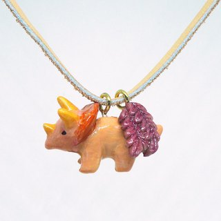 Triceratops handmade necklace