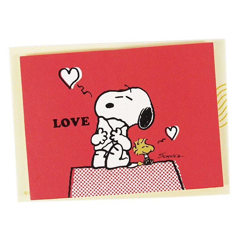 Snoopy and Charlie Brown hug [Hallmark-Peanuts Snoopy - Gift Card]