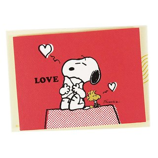 Snoopy and Charlie Brown Hug (Hallmark-Peanuts - Snoopy - Stereo Card)