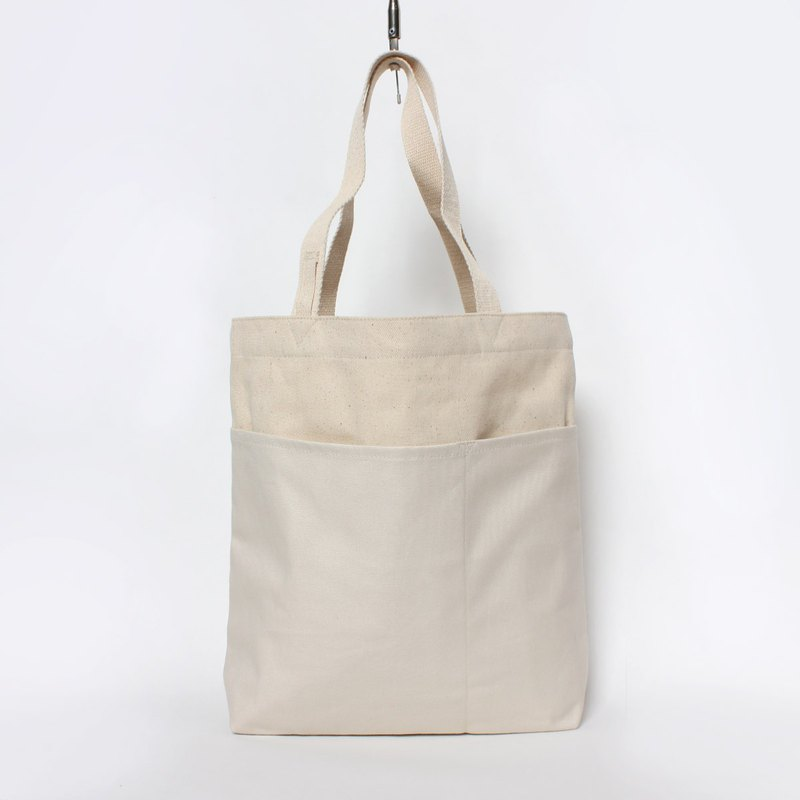 Five bag canvas bag is especially easy to use - thick white