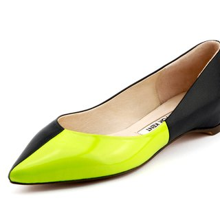 T FOR KENT|QUARTER  flats (Neon Lime)