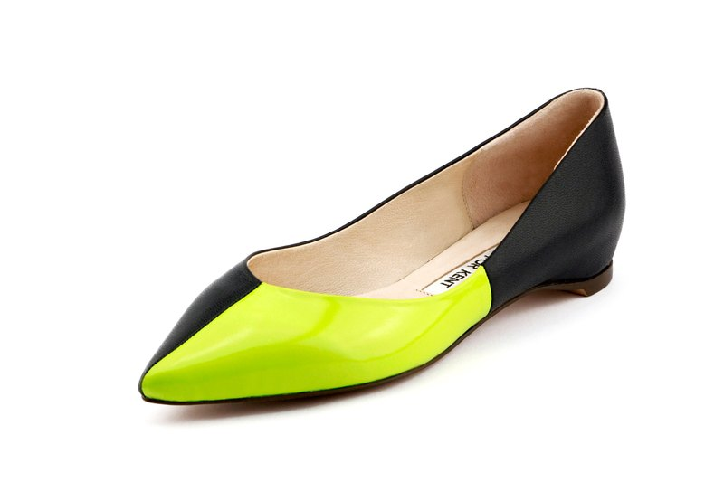T FOR KENT QUARTER  flats (Neon Lime)