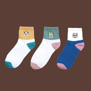 Embroidered cotton socks full range of limited combinations