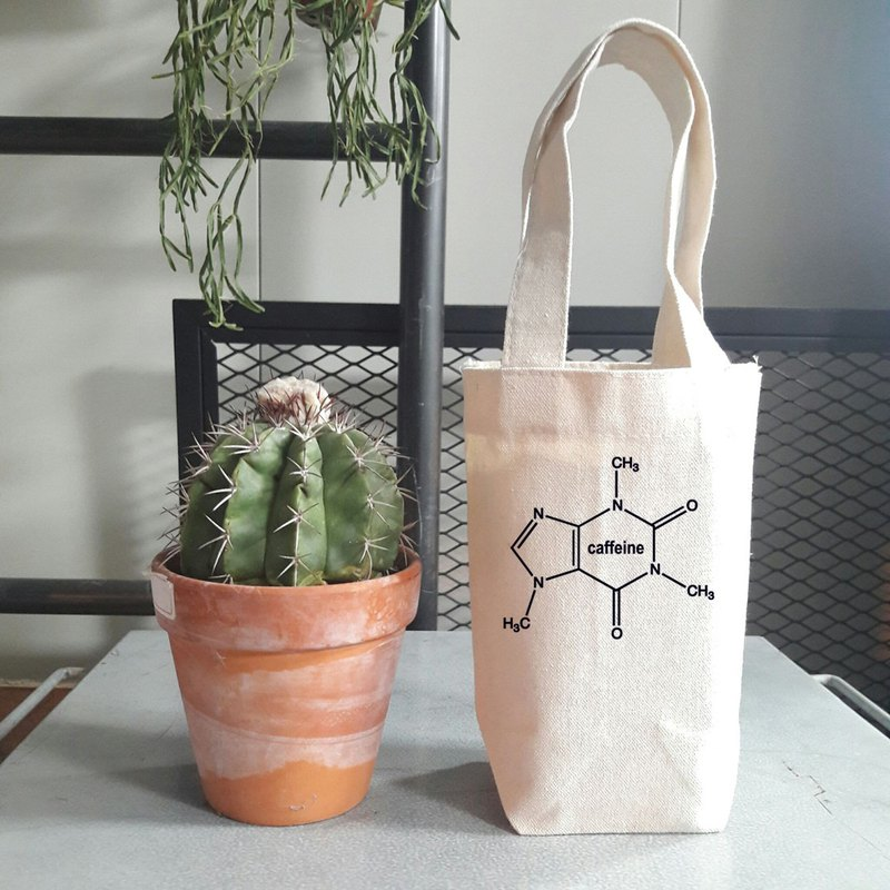 Caffeine Molecule little cotton bag