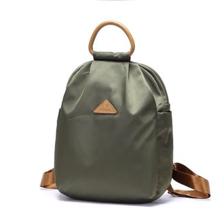 Simple fashion splash backpack / shoulder bag / black / gray / purple / military green / apricot