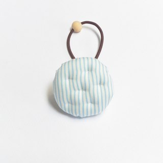 Hand made biscuits hair bundle - blue stripes
