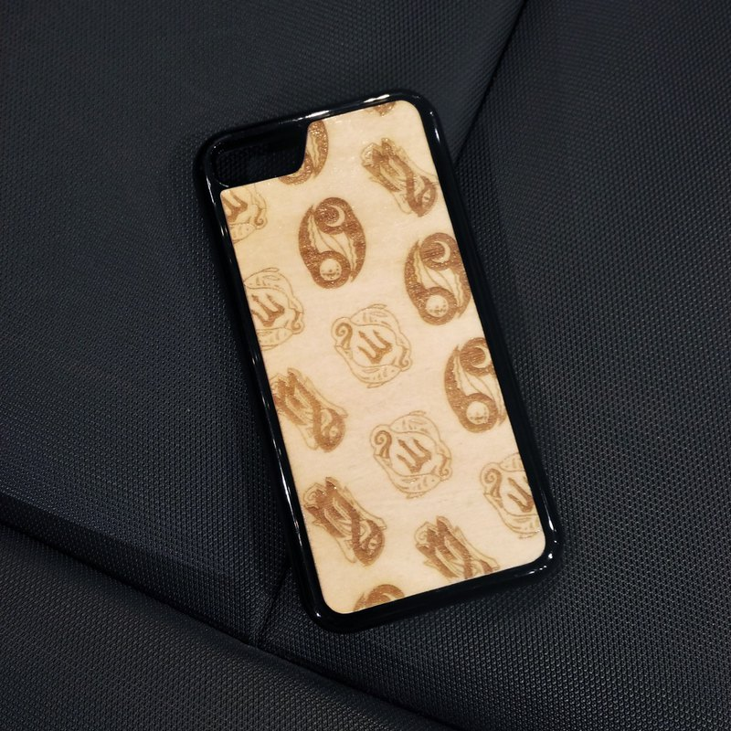 IPhone7/8 primary color wooden phone case – water sign - limited to 1!!