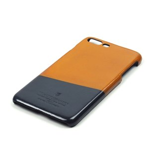 Racket leather case iPhone 7 Plus /Squash (Tan-Grey)